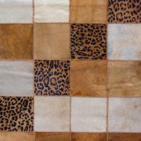 Tan Cream Leopard Floor Rug