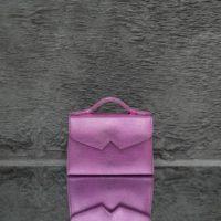 TKO Mini Metallic Baby Pink Lizard Embossed Leather