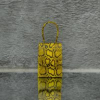 Alpha Mini Yellow Snake Embossed Leather