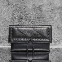 Reign Oversized Clutch Black Pewter Calf Skin