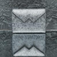 Box Clutch Mini Metallic Flowery Classic Grey Calf Skin