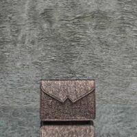 Waist Belt Bag Distressed Metallic Dark Grey Calf Skin