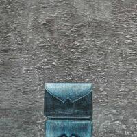 Waist Belt Bag Metallic Teal Blue Calf Skin
