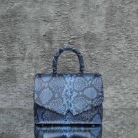 Hero Madam Azure Blue Black Exotic Python Skin