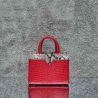 SST Classic Red Crocodile Embossed Leather Snake Insert
