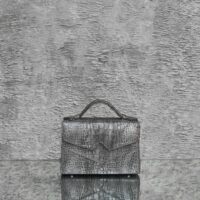 TKO Classic Grey Crocodile Embossed Leather