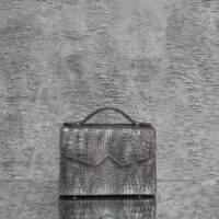 TKO Madam Grey Crocodile Embossed Leather