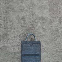 SST Mini SpeckledYale Blue Goat Skin