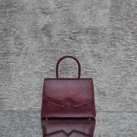 Alpha Classic Metallic Maroon Calf Skin